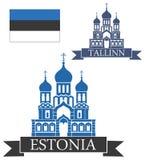 L'Estonia illustrazione vettoriale