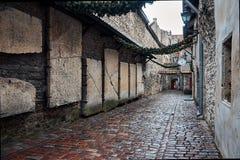 l'Estonie Ruelle Katarina dans la vieille ville de Tallinn 2 janvier 2018 image libre de droits