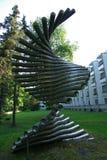 L'Estonie, sculpture moderne en Narva images stock