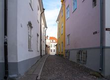 L'Estonie Tallinn Toompea, vieux bâtiment de ville photo stock
