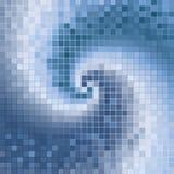 L'estratto blu si sviluppa a spiraleare mosaico Fotografia Stock Libera da Diritti
