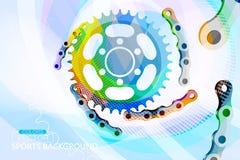 L'estratto colora la scena di concetti della ruota dentata Fotografia Stock