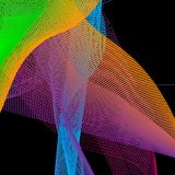 L'estratto colorato luminoso al neon di pendenza ha punteggiato il fondo dalle linee royalty illustrazione gratis