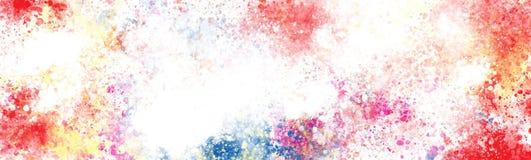 L'estratto Colourful schizza sulla grande tela illustrazione di stock