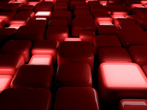L'estratto cuba il colore rosso Fotografia Stock