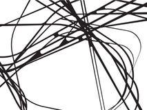 L'estratto curvo ondeggia il fondo in bianco e nero royalty illustrazione gratis