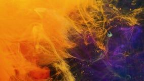 L'estratto di effetto dell'universo dello spazio inchiostra il moto mescolantesi video d archivio
