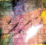 L'estratto di lerciume ha strutturato il collage di media misti, arte Fotografia Stock Libera da Diritti