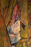 L'estratto dipende un bordo di legno, che erano già presenti sul legno e sono evidenziati a colori e immagini stock libere da diritti