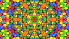 L'estratto esplode il movimento decorativo ornamentale del caleidoscopio del modello simmetrico regolare di concetto di diffusion stock footage