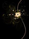 L'estratto fluttua con l'ornamento floreale Fotografia Stock Libera da Diritti
