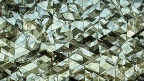 L'estratto futuristico poligonale a triangolo 3D della superficie di vetro si strappa Immagini Stock