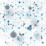 L'estratto geometrico 3D di vettore ha complicato il contesto di arte op, eps10 Immagine Stock