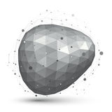 L'estratto geometrico 3D di vettore ha complicato l'oggetto della grata, singolo Immagini Stock