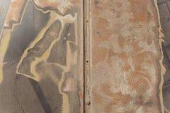 L'estratto ha corroso il fondo arrugginito variopinto del metallo, struttura arrugginita del metallo fotografia stock