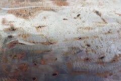 L'estratto ha corroso il fondo arrugginito variopinto del metallo, struttura arrugginita del metallo fotografie stock libere da diritti