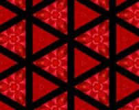 L'estratto ha espulso illustrazione del modello 3D dei triangoli Immagine Stock Libera da Diritti