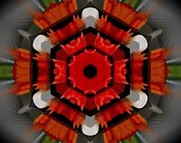 L'estratto ha espulso illustrazione della mandala 3D illustrazione vettoriale