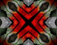 L'estratto ha espulso illustrazione della mandala 3D di X royalty illustrazione gratis