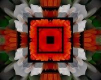 L'estratto ha espulso quadrato dell'illustrazione della mandala 3D illustrazione vettoriale