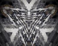 L'estratto ha espulso triangoli dell'illustrazione della mandala 3D Fotografia Stock