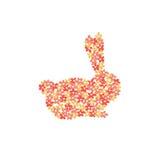 L'estratto ha fiorito il coniglio Immagine Stock