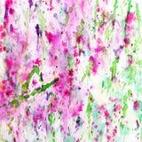 L'estratto ha spruzzato e schizzato gli splotches del rosa variopinto Fotografie Stock Libere da Diritti