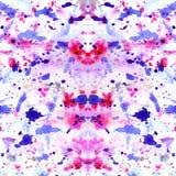 L'estratto ha spruzzato e schizzato gli splotches della viola variopinta Fotografia Stock