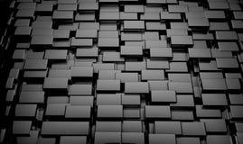 L'estratto lucido 3d cuba il fondo Fotografia Stock Libera da Diritti