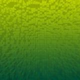 L'estratto luminoso cuba il fondo verde Fotografie Stock