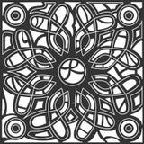 L'estratto monocromatico del hennè allinea il fondo Fotografie Stock Libere da Diritti