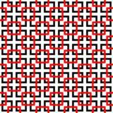 L'estratto nero e rosso curvo allinea il fondo Immagine Stock