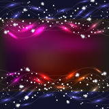 L'estratto ondeggia il fondo nei colori blu e rossi Illustrazione Fotografia Stock