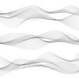 L'estratto ondeggia, linee grige su fondo bianco Immagine Stock Libera da Diritti