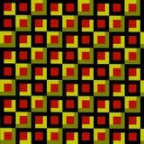 L'estratto quadra il fondo del mosaico Illustrazione di stile dell'annata Arte decorativa geometrica Olive Green Brown ed il nero Fotografia Stock