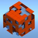 L'estratto rende il cubo Fotografia Stock