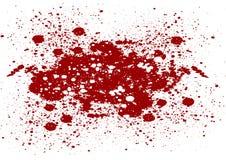L'estratto schizza il colore rosso sul fondo dell'isolato Vettore co rosso Fotografia Stock Libera da Diritti