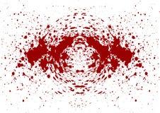 L'estratto schizza il fondo dell'isolato del sangue Immagini Stock Libere da Diritti