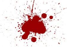 L'estratto schizza il fondo dell'isolato di colore rosso Immagini Stock Libere da Diritti
