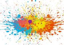 L'estratto schizza il fondo di colore Progettazione di vettore dell'illustrazione Immagini Stock