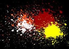 L'estratto schizza il fondo rosso e giallo bianco arancio di colore Immagini Stock Libere da Diritti