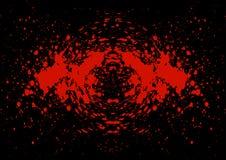 L'estratto schizza il sangue sul fondo nero di colore Immagine Stock Libera da Diritti
