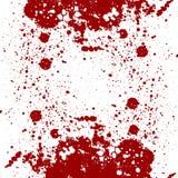 L'estratto schizza la progettazione schizzi il colore rosso sul fondo dell'isolato Fotografie Stock Libere da Diritti