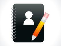 L'estratto si mette in contatto con l'icona del libro Immagine Stock