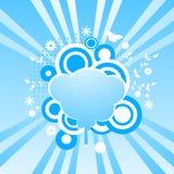 L'estratto turbina priorità bassa con il blocco per grafici di figura della nube Immagine Stock