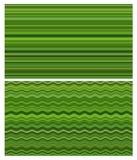 L'estratto verde allinea il collage Fotografie Stock