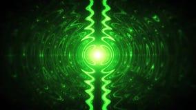 L'estratto verde ondeggia in un fondo V2 di moto di Loopable della pozza illustrazione di stock
