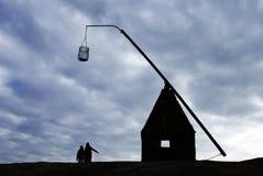 L'estremità del mondo che fornisce di punta il faro della lanterna Immagine Stock Libera da Diritti