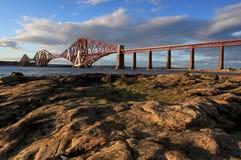 L'estuaire d'en avant jettent un pont sur Images libres de droits