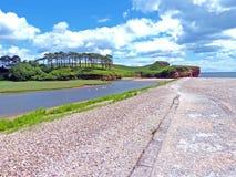 L'estuaire de loutre de rivière images stock